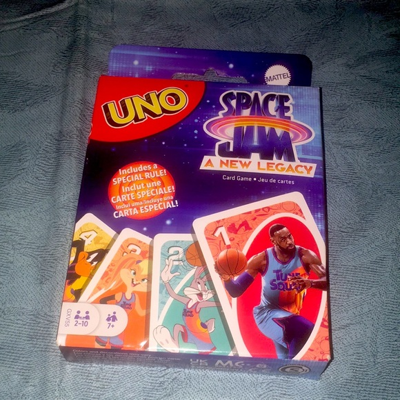Labron James Space Jam UNO Card Game Looney Tunes